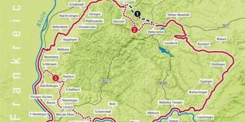 Südschwarzwald Karte.Stadt Waldshut Tiengen Druckversion Südschwarzwald Radweg